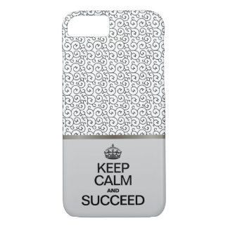 Swirl Pattern / Keep Calm and Succeed iPhone 8/7 Case