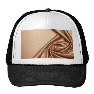 swirl satin bronze elegant chic textile silk silky trucker hat