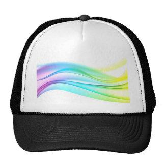 swirl satin color elegant chic textile silk trucker hat
