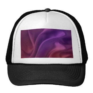 swirl satin lavender elegant chic textile silk trucker hat