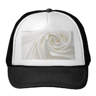 Swirl satin white wedding chic textile silk style trucker hat