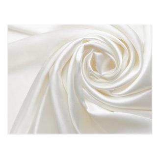 Swirl satin white wedding chic textile silk style postcard