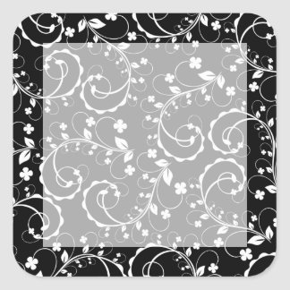 swirl square sticker