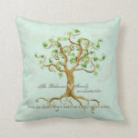 Swirl Tree of Life Roots Personalised Family Gift Pillow