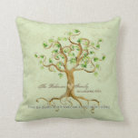 Swirl Tree of Life Roots Personalised Family Gift Pillows