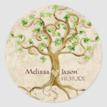 Swirl Tree Roots Antiqued Personalised Names Heart