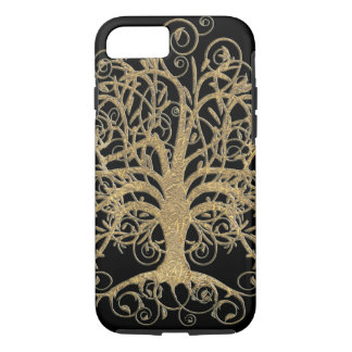 Swirl Tree You Choose Background Color iPhone 7 Case