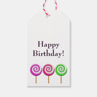 Swirled Lollipops Gift Tag