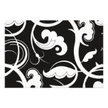 Swirled Pattern, Swirly Style - Black White Photo Art