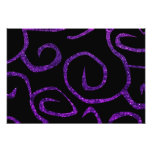 Swirled Pattern, Swirly Style, Glitter - Purple Photo