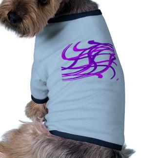 Swirled Purple Stripes Doggie Tshirt