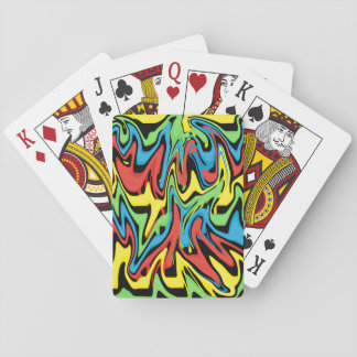 Swirled Rainbow Blue Red Yellow Green Playing Cards