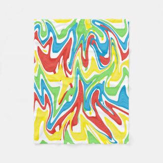 Swirled Rainbow Fleece Blanket