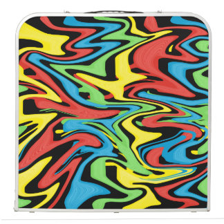 Swirled Rainbow Red Blue Green Yellow Beer Pong Table
