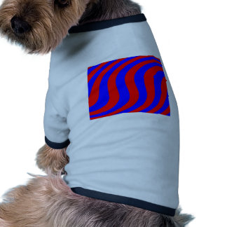 Swirled Red & Blue Stripes Pet Tshirt