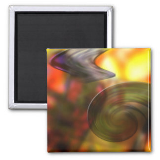 Swirling Abstract of Colors Refrigerator Magnet