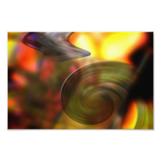 Swirling Abstract of Colors Photo Print
