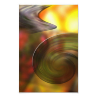 Swirling Abstract of Colors Photo
