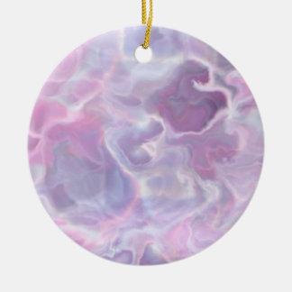 Swirling Batik Round Ceramic Decoration
