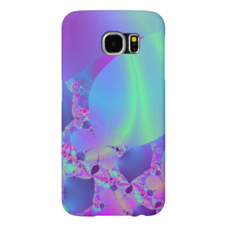 Swirling Blue Green and Pink Abstract Samsung Galaxy S6 Cases