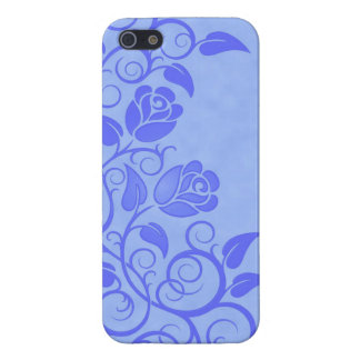 Swirling Blue Roses iPhone 5 Case