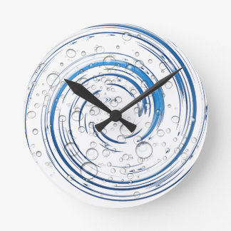 """""""Swirling Bubbles"""" Round Clock"""