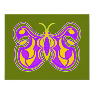 Swirling Butterfly 11 Cm X 14 Cm Invitation Card