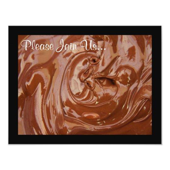 Swirling Chocolate Custom Fondue Party Invitations