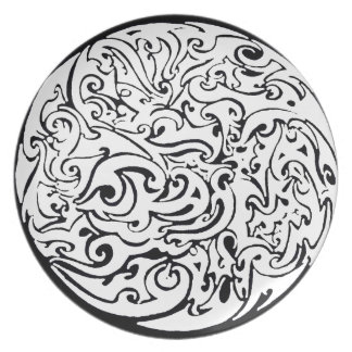 Swirling circle plate