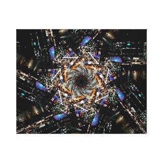 Swirling City Canvas Print