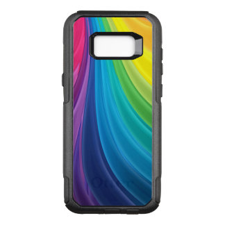 Swirling Colorful Rainbow OtterBox Commuter Samsung Galaxy S8+ Case