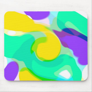 Swirling colors mousepad