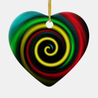Swirling colours. ceramic heart decoration