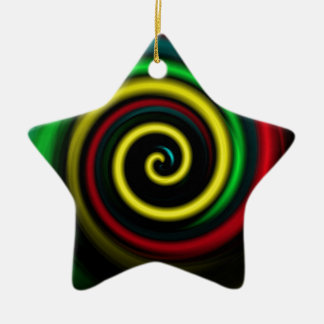 Swirling colours. christmas ornament