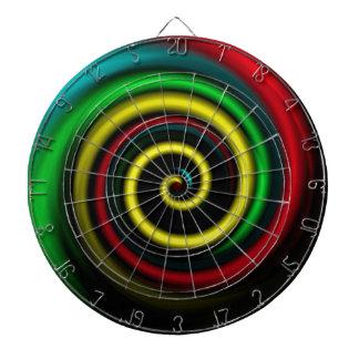 Swirling colours. dartboard