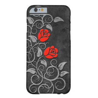 Swirling Dark Stone Red Roses iPhone 6 Case