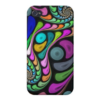 Swirling fractal abstract iPhone 4/4S case