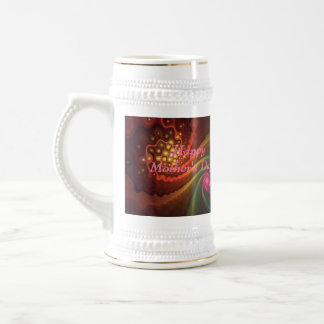Swirling Fractal Delight Happy Mother's Day Beer Steins