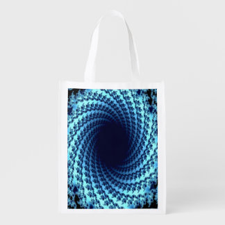 Swirling Illusion Grocery Bags