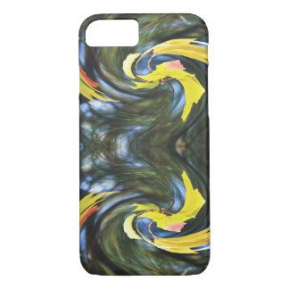 Swirling Leaves Illusions iPhone 7 Case