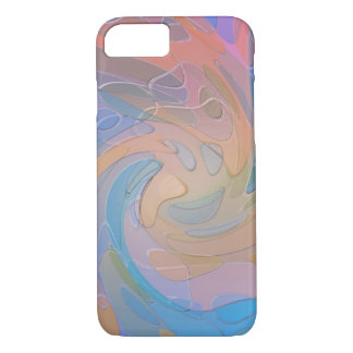 Swirling Multicolored Pastel Glass Abstract Art iPhone 7 Case