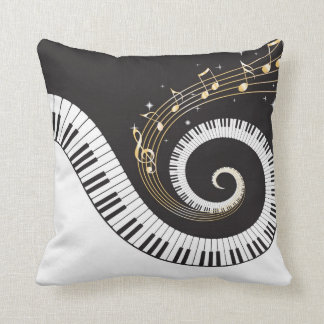 Swirling Piano Keys Cushion