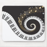 Swirling Piano Keys Mouse Pad