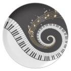 Swirling Piano Keys Plate