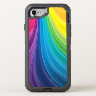 Swirling Rainbow OtterBox Defender iPhone 8/7 Case