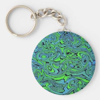 Swirling Seas Keychain