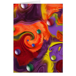 Swirling Spheres Abstract Greeting or Note Card