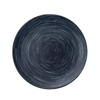 Swirling Starry Sky Decorative Porcelain Plate