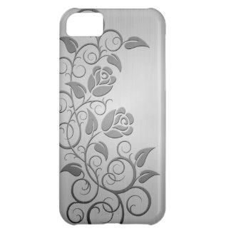 Swirling Steel Roses iPhone 5C Case