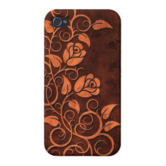 Swirling Stone Roses iPhone 4/4S Cases